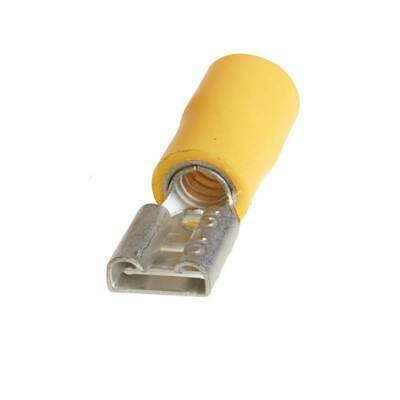 Push On Terminals 50 Pieces 35 Amp Yellow 250 6.3mm Female - Pearl PWC029