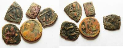 ZURQIEH -as10743- LOT OF 5 BYZANTINE/ ARAB-BYZANTINE AE FALS COINS