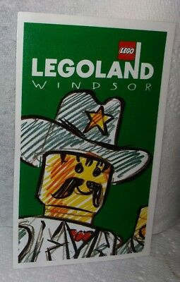 Mint * 1997 * Legoland * Windsor *cowboy *entrance * Admission * Ticket * Unused