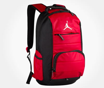 41035b762aff Air Jordan Basketball Jump Man Red   Black All World Travel   Gym Backpack  Bag