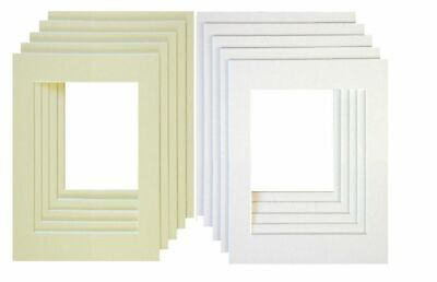 Photo Frames Mount Bevel Cut Mounts For Picture/Photo Frames Inserts Multi Sizes