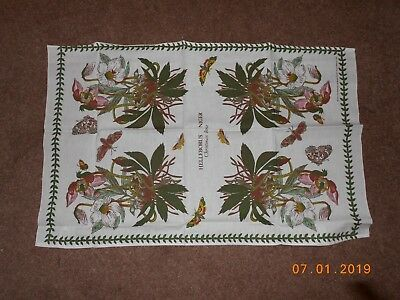Portmeirion Botanic Garden Cotton Tea Towel - Christmas Rose - Brand New