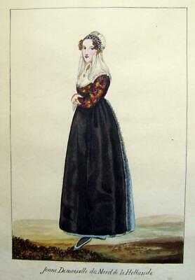 Fashion Dutch Lady From North Of Holland French Sch Possibly Mather C1830
