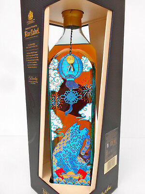 "Johnnie Walker Blue Label Ltd Edit 2019 ""Year Of The ""PIG"" -RARE LITRE SIZE!!!!"