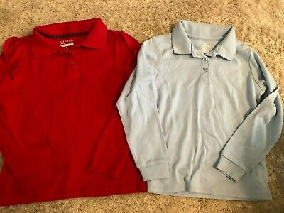 Red Short Sleeve School Uniform Polo Shirt 8//10 Arrow Girls Size Medium