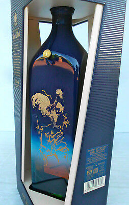 "Johnnie Walker Blue Label Ltd Edit 2017 ""Year Of The Rooster""  -RARE LITRE SIZE!"