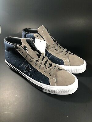 8787b3d59f9d Converse One Star Pro Mid Obsidian Malt Leather Mens Size 10 M 155521C