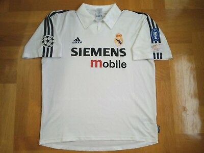 huge selection of 84add cf533 REAL MADRID JERSEY 2002/2003 Camiseta Retro CHAMPIONS LEAGUE Patch  Galacticos