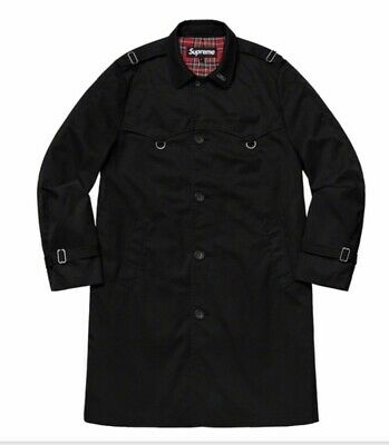 9994c1e7 2019 Supreme D-Ring Trench Coat Black Size Large Shipping Worldwide