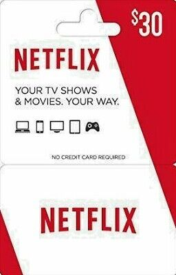 Netflix Gift Card $30 Value | 50% DISCOUNT| Email Delivery Within 6 Hours