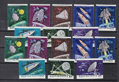 hungary 1964 Sc 1562/9,space.two sets,imperf. + perf.MNH      o1181
