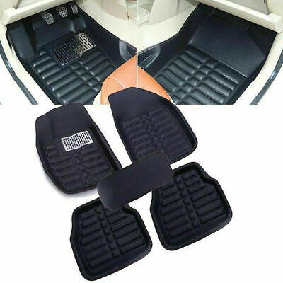 5Pcs Car Floor Mats Front & Rear Liner Waterproof Mat Wear-Resistant Universal