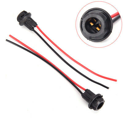 T10 W5W Light Bulb Socket Holder fit Car Truck Boat Soft Rubber Connector BSCA