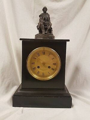 Antique mantle Clock with Shakespeare Lund & Blockley 42 Pall Mall