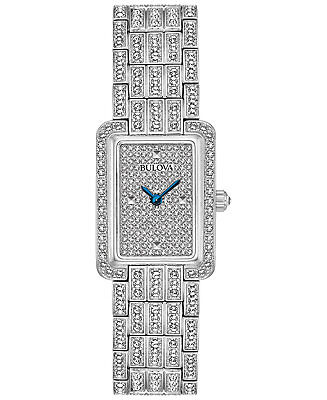 *BRAND NEW* Bulova Women's Crystal Accented Stainless Steel Case Watch 96L244