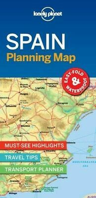 NEW Spain Planning Map By Lonely Planet Travel Guide Folded Sheet Map