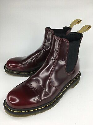 72dc125f DR MARTENS 2976 Certified Vegan Chelsea Boots Cherry Red Sz 11 US ...
