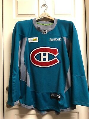 MONTREAL CANADIENS PRO PRACTICE JERSEY REEBOK 3.0 SZ 56 w AUTH TEAM SUBWAY  PATCH 48a4fa70c