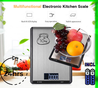 Digital Food Scale Kitchen Electronic LCD Scale 10kg Weight Stainless Steel 1g