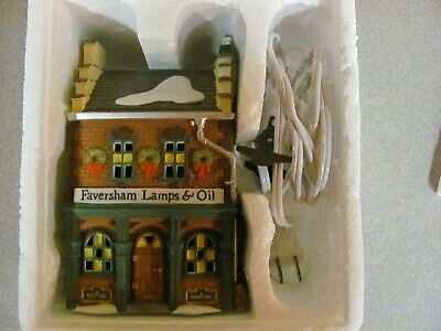 Dept 56 Dickens Village Series Faversham Lamps & Oil  #5832-7 Retired 1995