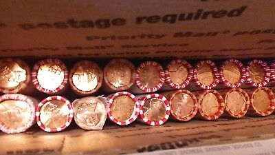 Twenty Uncirculated rolls of Lincoln Shield Cents. 10 2010-PD, 10 2012-PD.