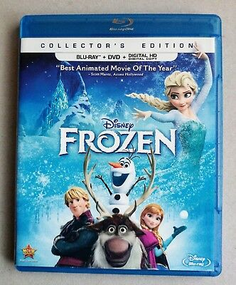 Disney FROZEN Collectors Edition  BLU-RAY + DVD + Digital HD 2 Disc Set