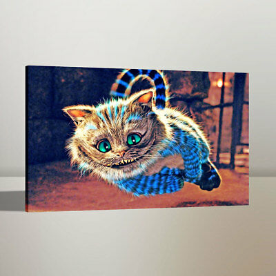 Cheshire Cat Alice Home Wall Decor Art Oil Painting Canvas Print 24x36