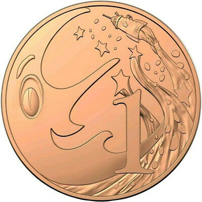 1c Mr Squiggle Coloured Coin (2019) – UNC