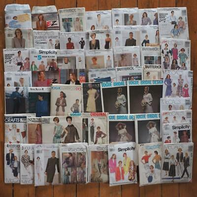 Vintage Lot of 50 Sewing Fabric Patterns Simplicity Butterick Vogue McCall's