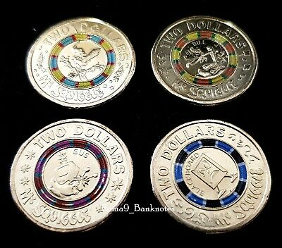 $2 Mr Squiggle Coloured Coin (2019) – Week 1 to 4 – UNC