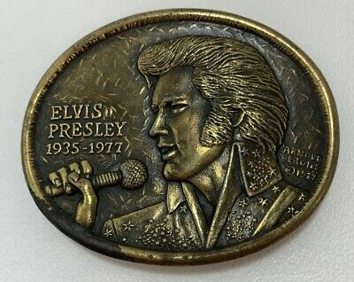 Authentic First Edition Elvis Presley Commemorative Memorial Belt Buckle 1977