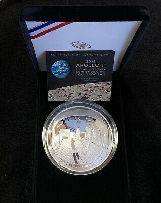2019 US Mint Apollo 11 50th Anniversary Five Ounce Proof Silver Dollar 5oz
