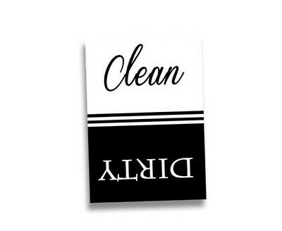 """Set of 50 - Clean / Dirty Dishwasher Magnet - 2.5"""" x 3.5"""" Size"""