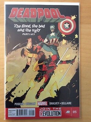Deadpool 15, Nm (9.2 - 9.4) 1St Print, Marvel Now, Wolverine Captain America Htf