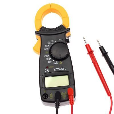 Portable LCD DIGITAL Clamp Multimeter AC DC Voltage Electronic Tester Meter BV