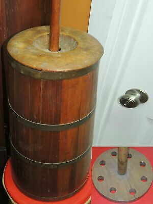 """Wood Wooden Butter Churn 19""""-42"""" Pine Maple natural finish PRIMITIVE ANTIQUE"""