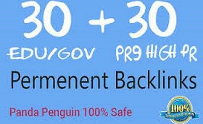 50 PR9 & 20 EDU GOV High PR SEO Backlinks from TOP Authority Domains , Indexing