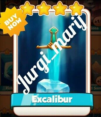 ✴✴✴Coin Master Card Excalibur✴✴✴                    ✴Excalibur✴✅ fast delivery