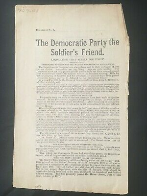 1880 CONGRESSIONAL RACE Democrat Republican CIVIL WAR Pensions SOLDIERS Politics
