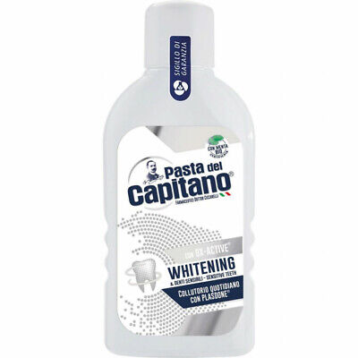 "Stock 8 Pezzi ""Pasta Del Capitano Colluttorio 400 Ml"" Whitening"