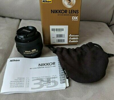 Used Nikon AF-S DX NIKKOR 35mm f/1.8G Lens with Auto Focus for Nikon DSLR Camera