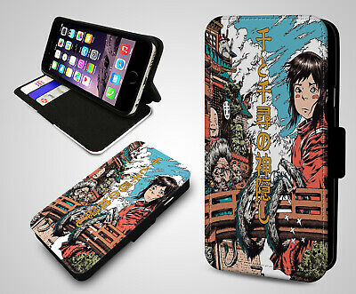 Studio Ghibli Spirited Away Poster Anime Manga Leather Wallet Phone Case Cover