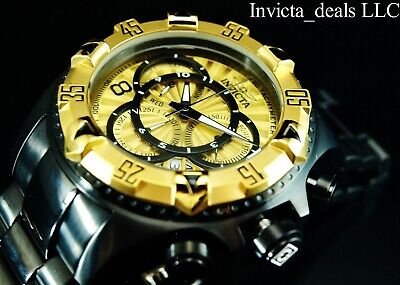 Invicta Men's 52mm Excursion TOURING Swiss Chronograph Black Gold Tone SS Watch
