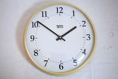 "Trts Made In Germany 14"" Cream Vintage Style Slave Dial Wall Clock"