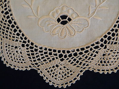 FLORAL CUTWORK & LACE Doily So Pretty!