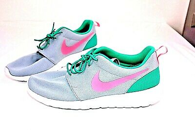 d540a4b81fe14 Nike Roshe One Run South Beach Green Pink Sport Train Grey 511881-036 Size  10.5