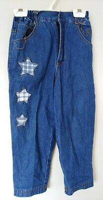 SAN BAN GAY Kids Blue Jeans Elastic Side Waistband with stars Size 28