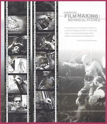 Scott 3772 American Film Making Behind The Scenes Stamp Sheet MNH