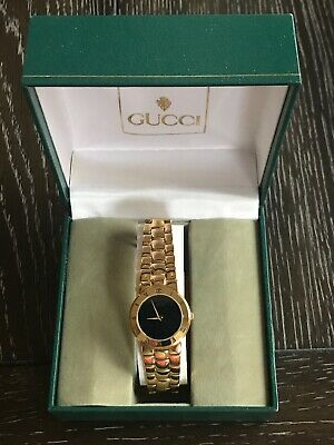 987b1cc7737 VINTAGE GUCCI 3300.2.L 18k Gold Plated Ladies Quartz Watch -  380.00 ...