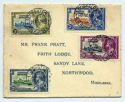 Northern Rhodesia 1935 Silver Jubilee Set On Livingstone Cover To England